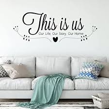 Amazon Com Family Wall Decal This Is Us Our Life Our Story Our Home Vinyl Art For Living Room Bedroom Or Home Decor Handmade