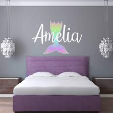 Personalized Name Mermaid Wall Decal Sticky Wall Vinyl Llc