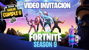 Fortnite Video Invitacion Cumpleanos Temporada 9 Youtube
