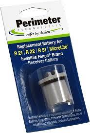 Amazon Com Perimeter Technologies Invisible Fence Compatible R21 R22 R51 And Microlite Dog Collar Battery Perimeter Technologies Electronic Bark Collars Pet Supplies