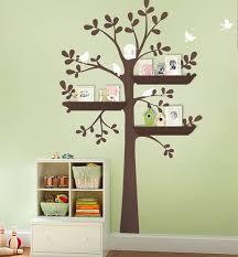 Original Shelving Tree With Birds Large Kids Vinyl Wall Etsy Baby Nursery Wall Decals Vinyl Wall Decals Nursery Nursery Wall Decals