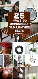 repurpose and reuse old leather belts