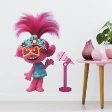 New Trolls World Tour Peel And Stick 24 Wall Decals Fun Colorful Girls Room Decor Stickers Walmart Com Walmart Com