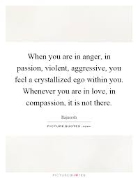 when you are in anger in passion violent aggressive you feel