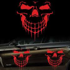 Skull Car Hood Decal Vinyl Large Graphic Sticker Suv Truck Tailgate Window Red Ebay
