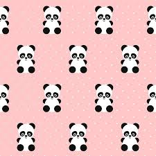 seamless pattern on polka dots pink