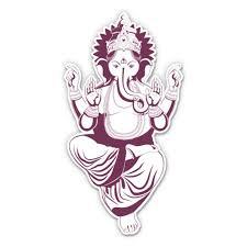 Ganesh Elephant Hindu God Elephant 5 Vinyl Sticker For Car Laptop I Pad Waterproof Decal Walmart Com Walmart Com