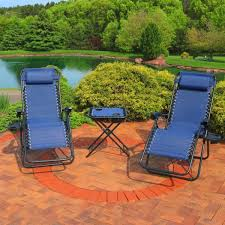navy blue sling beach chairs