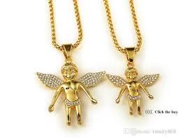 18k gold plated boy angel girl angels
