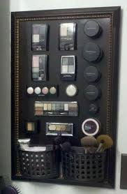 organize makeup in your bathroom with