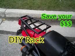 diy motorcycle luge cargo rack you