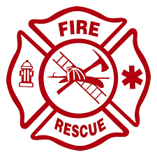 Fire Department Maltese Cross Window Decal 5 5 Inches Sunburst Reflections
