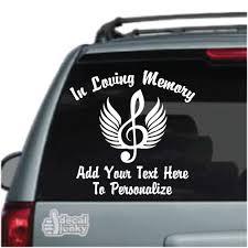In Loving Memory Music Memorial Car Decals Decal Junky