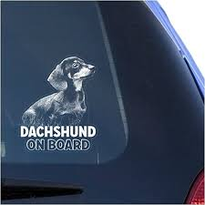 Amazon Com Dachshund Clear Vinyl Decal Sticker For Window Doxie Dog Sign Art Design Print Arts Crafts Sewing
