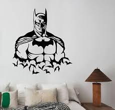 Batman Wall Decal Vinyl Sticker Comics Superhero Art Kids Bedroom Decor Bat19 Ebay