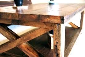 oak coffee table rustic wood squa