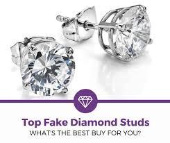 top 5 best fake diamond studs 2020