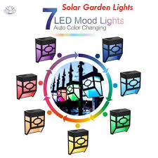 Solar Fence Post Lights Outdoor Deck Lighting 2 Modes Led Wall Mount Decorative Buy At A Low Prices On Joom E Commerce Platform