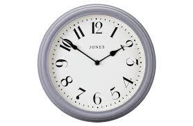 jones venetian wall clock grey
