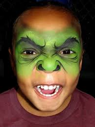 hulk face paintings