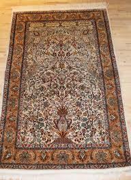kashmir silk prayer rug carpet signed