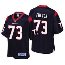 Men Zach Fulton Houston Texans Navy Player Jersey