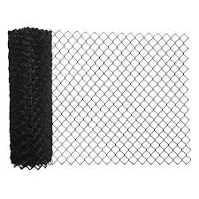 50 Black Vinyl Coated 9 Gauge Chain Link Fence Fabric At Menards