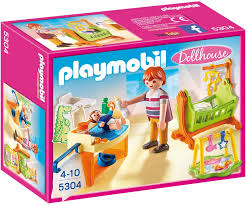 Amazon Com Playmobil Baby Room With Cradle Toys Games