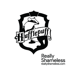 Hp Hufflepuff Crest Slytherin Crest Black And White Stickers Harry Potter Tee