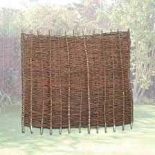 Willow Hurdle Fence Panel 6ft High X 6ft Wide