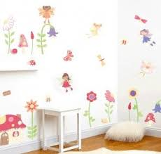 Enchnated Fairy Garden Wall Decals Girls Nursery And Bedroom Wall Mural Kit Wall Stickers Bedroom Fairy Room Room Decor