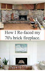 how i refaced my 1970 s brick fireplace