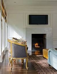 simple marble slab fireplace surround