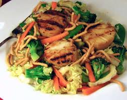 Grilled Scallop Teriyaki Salad Recipe ...