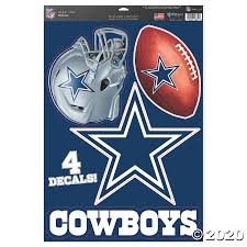 Nfl Dallas Cowboys Window Decals Oriental Trading
