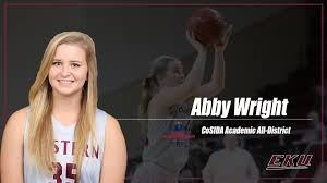 Abby Wright Named First Team Academic All-District - Eastern ...