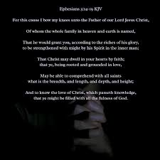 bible verses kjv on ephesians kjv and to know the
