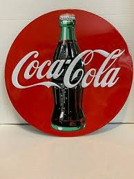 Coca Cola Have A Coke Here Red Disc Decal Wall Decal 1950s Style Button Coca Cola Collectibles Soda