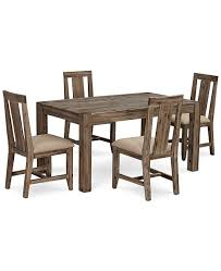 Furniture Canyon Small 5 Pc Dining Set 60 Dining Table 4 Side Chairs Created For Macy S Reviews Furniture Macy S