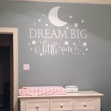 Dream Big Little One Quotes Wall Decal Nursery Wall Sticker Baby Bedroom Art Decor Kids Wall Sticker Stars Wall Decals 2632 Quote Wall Decal Star Wall Decalswall Decals Aliexpress