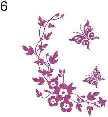 Wall Stickers Murals Kaimao Purple Flower In The Wind Wall Stickers Art Decal Murals Removable Wallpapers For Home Decoration Home