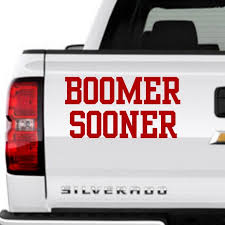 Boomer Sooner University Of Oklahoma Vinyl Decal Oklahomasooners In 2020 Boomer Sooner University Of Oklahoma Vinyl Decals
