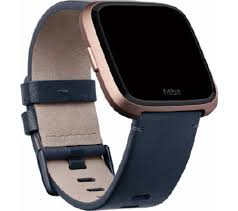 fitbit versa leather band blue small