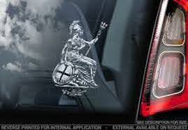 Knights Templar Car Sticker St George Dragon Freemason Masonry Window Decal V6 Ebay
