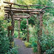 rustic and simple arbor ideas