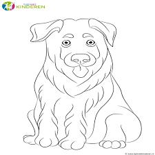 Kleurplaten Kerst Met Een Hondje