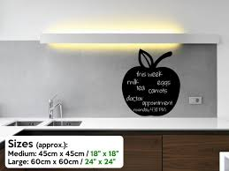 Cupcake Chalkboard Wall Fridge Sticker Kitchen Dining Room Free Chalk And Sponge