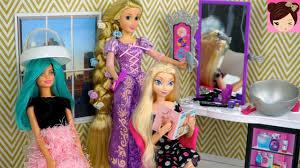 barbie rapunzel hair style salon queen