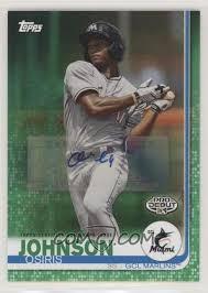 2019 Topps Pro Debut - [Base] - Green Autographs [Autographed] #166 - Osiris  Johnson /99