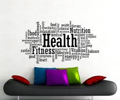 Amazon Com Health Fitness Motivation Word Cloud Wall Decal Healthy Lifestyle Gym Sports Training Place Vinyl Sticker Home Interior Art Decoration Any Room Mural Waterproof Vinyl Sticker 90gy Arts Crafts Sewing